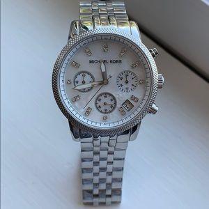 Michael Kors Chronograph Silver Watch